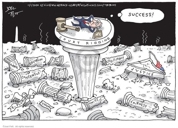 Joel Pett  Joel Pett's Editorial Cartoons 2020-11-01 senator
