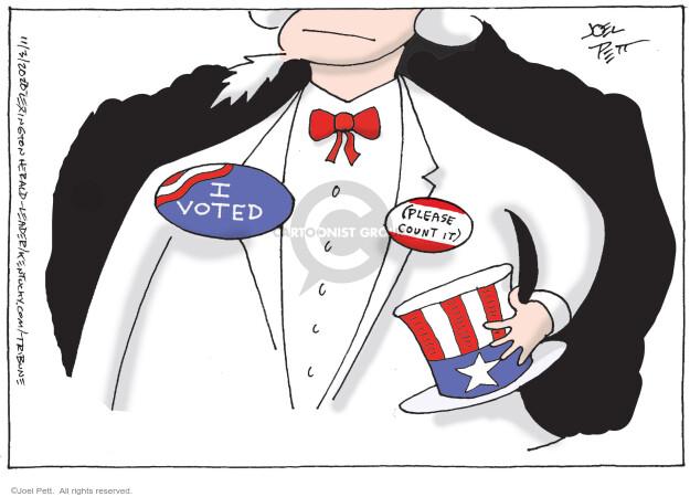 Joel Pett  Joel Pett's Editorial Cartoons 2020-11-03 presidential election