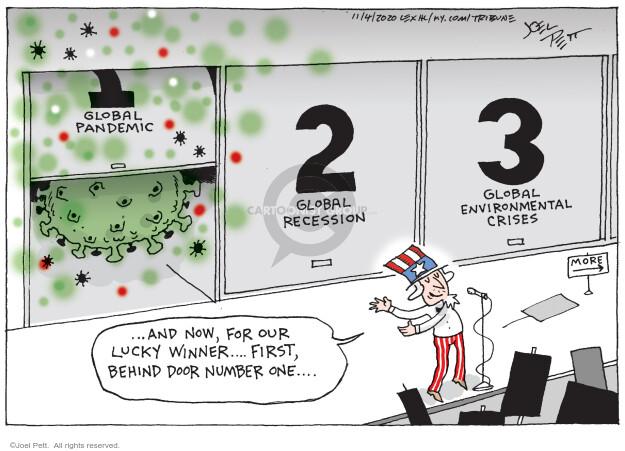 Joel Pett  Joel Pett's Editorial Cartoons 2020-11-04 recession