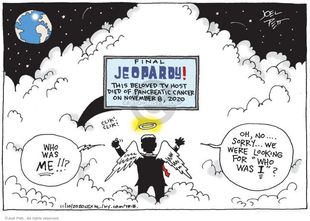 Joel Pett  Joel Pett's Editorial Cartoons 2020-11-10 obituary