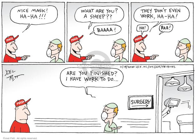 Joel Pett  Joel Pett's Editorial Cartoons 2020-11-19 health