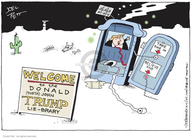 Joel Pett  Joel Pett's Editorial Cartoons 2020-11-27 Donald Trump