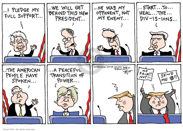 Joel Pett  Joel Pett's Editorial Cartoons 2020-12-20 Donald Trump
