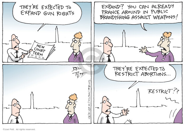 Joel Pett  Joel Pett's Editorial Cartoons 2021-01-03 assault weapon
