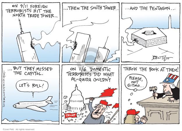 Joel Pett  Joel Pett's Editorial Cartoons 2021-01-22 September 11, 2001