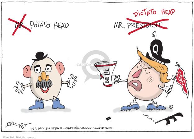 Joel Pett  Joel Pett's Editorial Cartoons 2021-03-02 Donald Trump