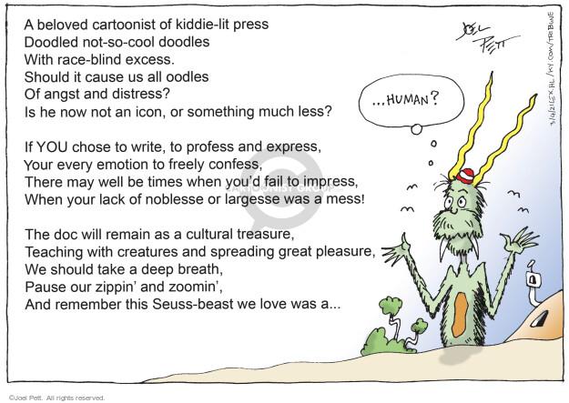 Joel Pett  Joel Pett's Editorial Cartoons 2021-03-04 human