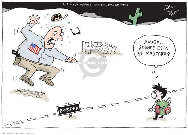 Joel Pett  Joel Pett's Editorial Cartoons 2021-03-19 face mask