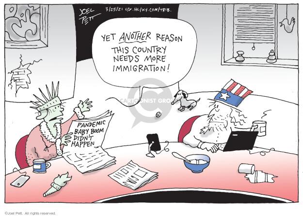 Joel Pett  Joel Pett's Editorial Cartoons 2021-03-25 coronavirus