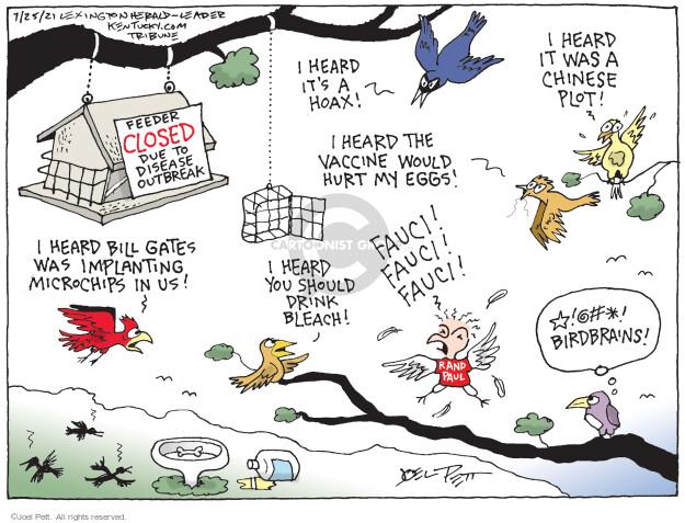 Joel Pett  Joel Pett's Editorial Cartoons 2021-07-25 coronavirus