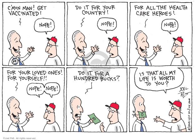 Joel Pett  Joel Pett's Editorial Cartoons 2021-08-08 coronavirus