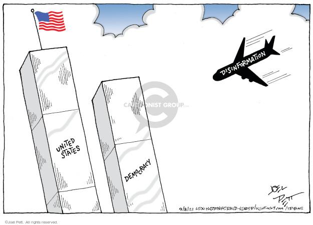Joel Pett  Joel Pett's Editorial Cartoons 2021-09-08 2001