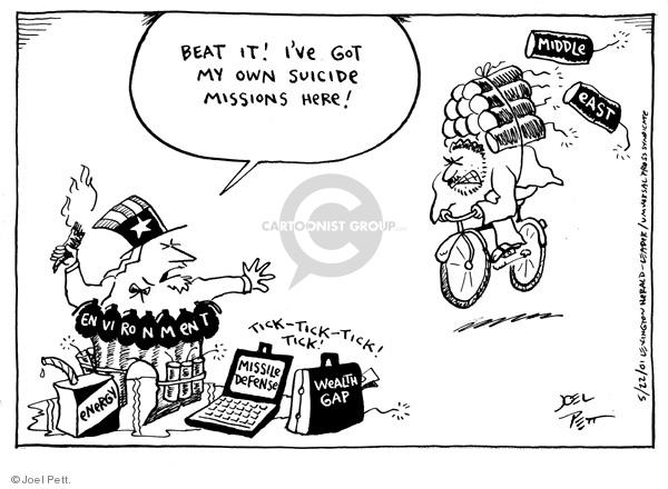Joel Pett  Joel Pett's Editorial Cartoons 2001-05-22 Middle East