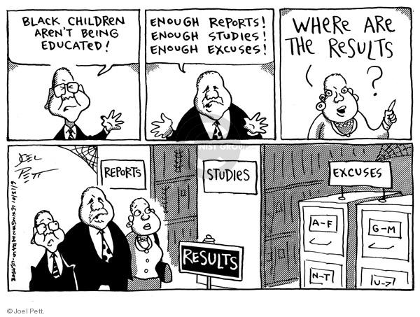 Cartoonist Joel Pett  Joel Pett's Editorial Cartoons 2001-06-13 inaction