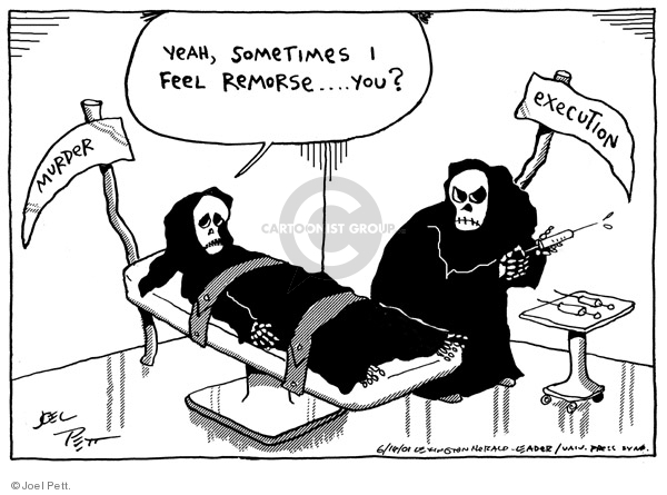 Joel Pett  Joel Pett's Editorial Cartoons 2001-06-14 punishment