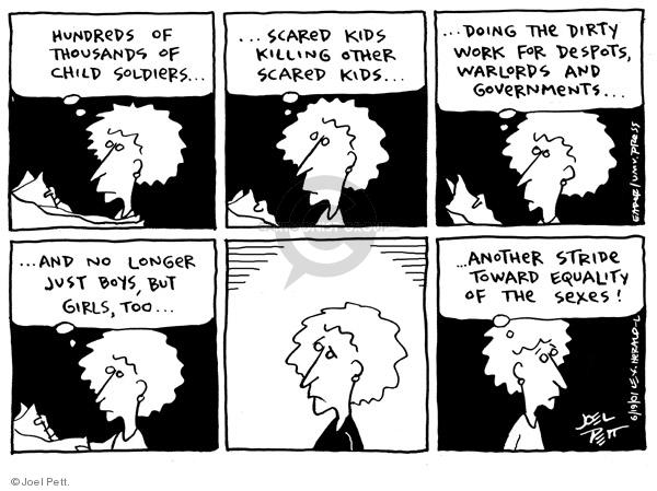 Joel Pett  Joel Pett's Editorial Cartoons 2001-06-19 female