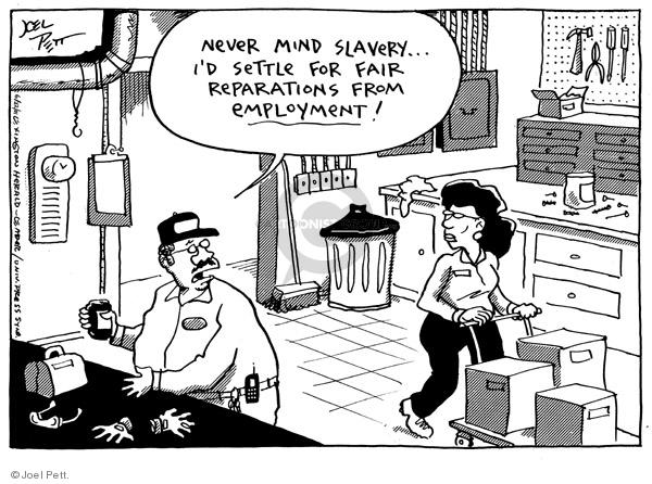 Joel Pett  Joel Pett's Editorial Cartoons 2001-06-22 employment work