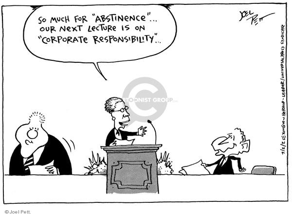 Cartoonist Joel Pett  Joel Pett's Editorial Cartoons 2001-07-02 Bill Clinton
