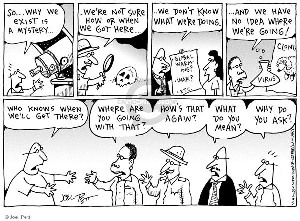 Joel Pett  Joel Pett's Editorial Cartoons 2001-07-24 risk