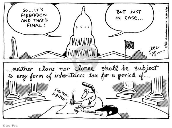 Joel Pett  Joel Pett's Editorial Cartoons 2001-08-07 tax form