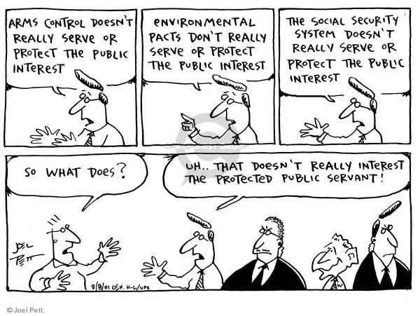 Joel Pett  Joel Pett's Editorial Cartoons 2001-08-08 secret