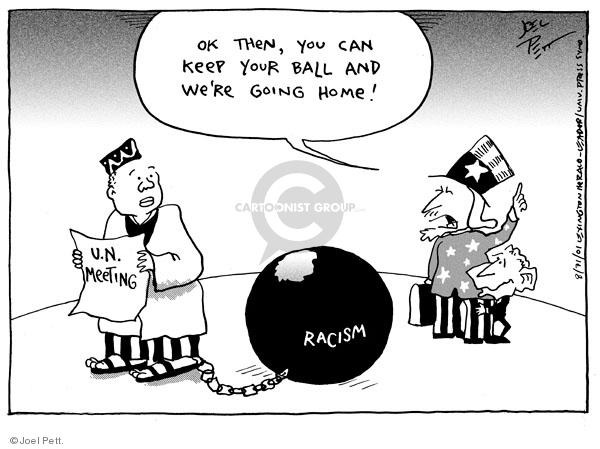 Joel Pett  Joel Pett's Editorial Cartoons 2001-08-31 racism