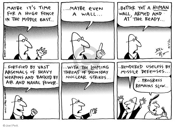 Joel Pett  Joel Pett's Editorial Cartoons 2001-09-05 Middle East