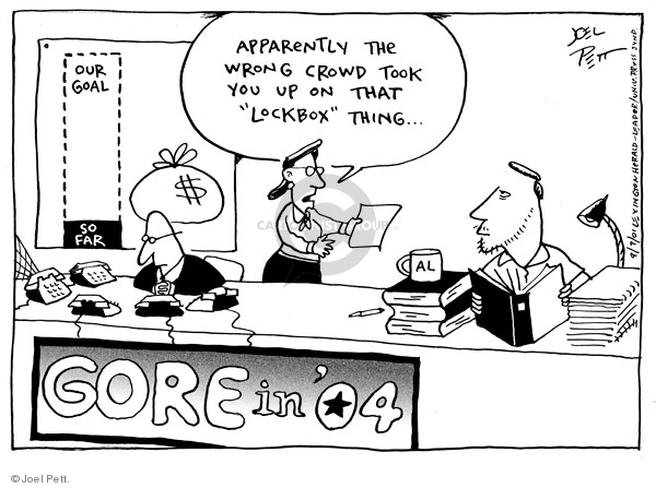 Joel Pett  Joel Pett's Editorial Cartoons 2001-09-07 2004 election