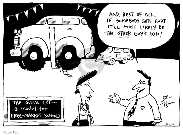 Joel Pett  Joel Pett's Editorial Cartoons 2001-09-11 risk