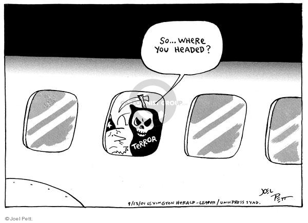 Cartoonist Joel Pett  Joel Pett's Editorial Cartoons 2001-09-13 September