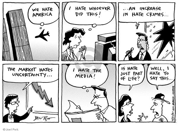 Joel Pett  Joel Pett's Editorial Cartoons 2001-09-21 political media
