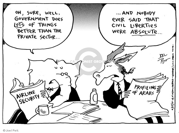 Cartoonist Joel Pett  Joel Pett's Editorial Cartoons 2001-09-25 republican democrat