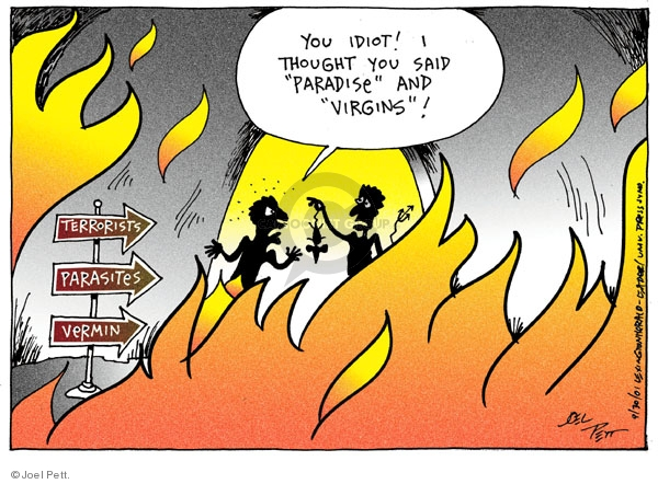 Cartoonist Joel Pett  Joel Pett's Editorial Cartoons 2001-09-30 Muslim