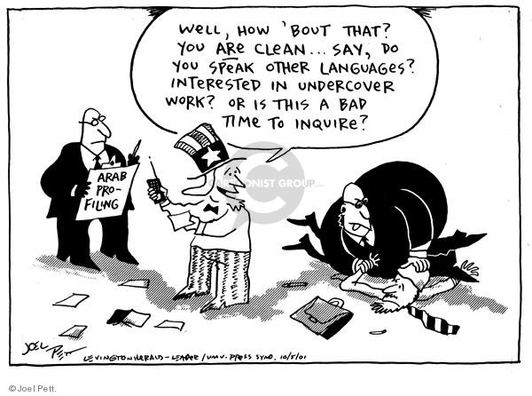 Joel Pett  Joel Pett's Editorial Cartoons 2001-10-05 clean