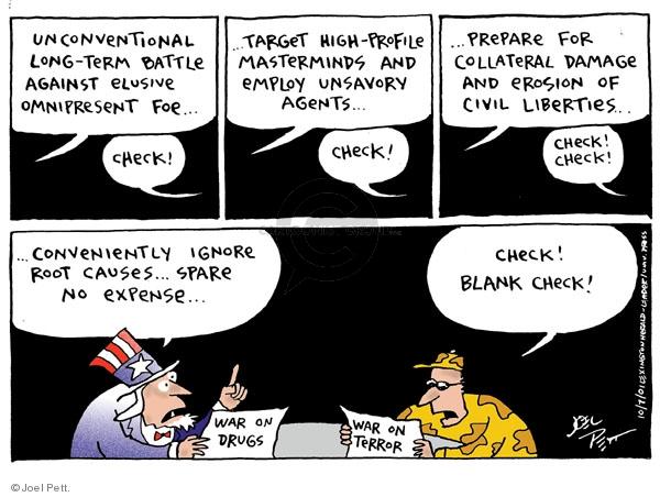 Cartoonist Joel Pett  Joel Pett's Editorial Cartoons 2001-10-07 leader