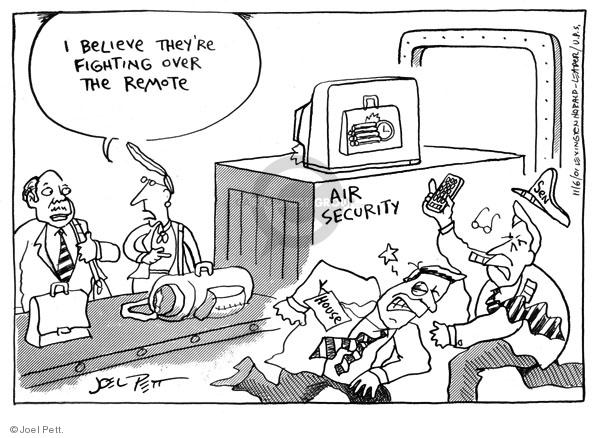 Cartoonist Joel Pett  Joel Pett's Editorial Cartoons 2001-10-09 trade