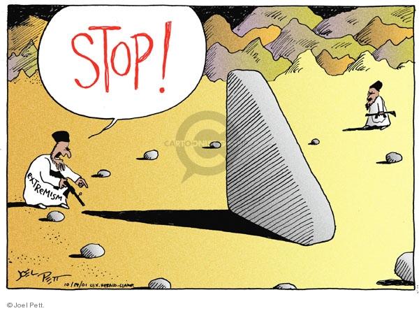 Cartoonist Joel Pett  Joel Pett's Editorial Cartoons 2001-10-14 Muslim