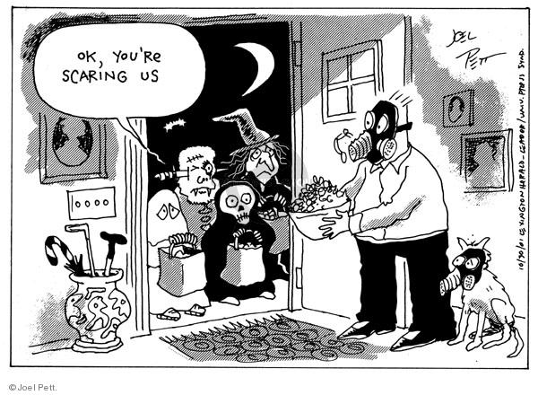 Joel Pett  Joel Pett's Editorial Cartoons 2001-10-30 mask