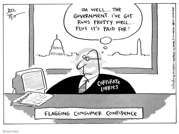 Cartoonist Joel Pett  Joel Pett's Editorial Cartoons 2001-11-01 bailout