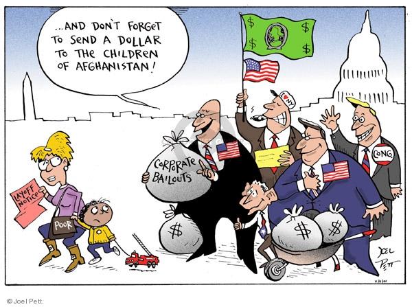 Cartoonist Joel Pett  Joel Pett's Editorial Cartoons 2001-11-11 bailout