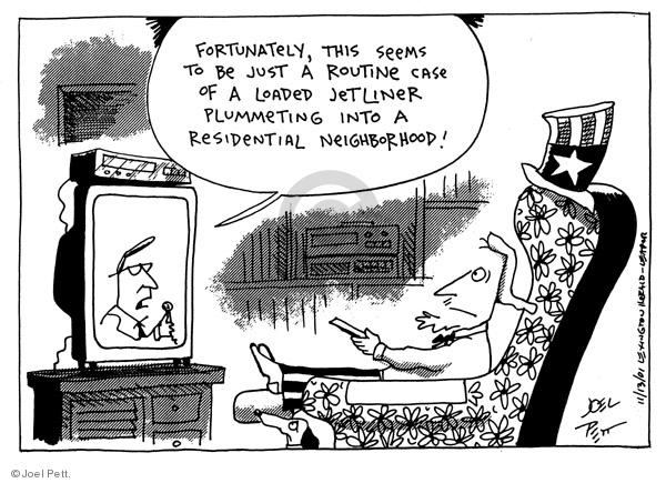 Cartoonist Joel Pett  Joel Pett's Editorial Cartoons 2001-11-13 case