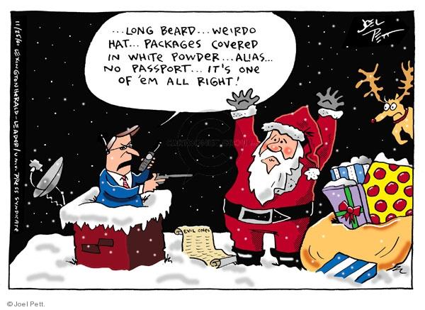 Cartoonist Joel Pett  Joel Pett's Editorial Cartoons 2001-11-25 Patriot Act