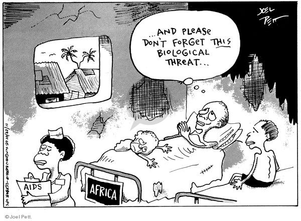Joel Pett  Joel Pett's Editorial Cartoons 2001-11-29 hospital