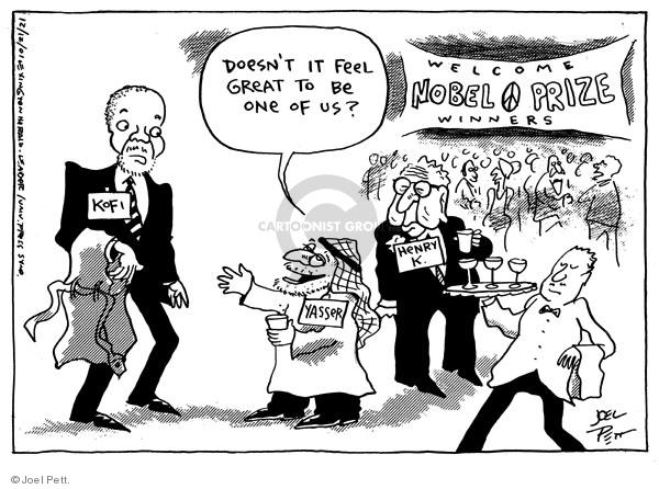 Joel Pett  Joel Pett's Editorial Cartoons 2001-12-12 award