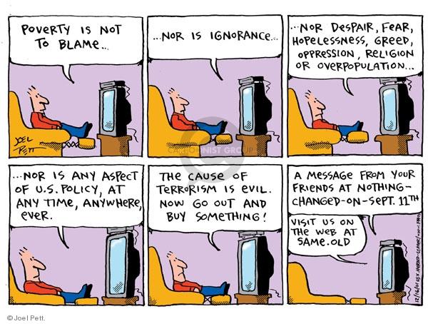 Joel Pett  Joel Pett's Editorial Cartoons 2001-12-16 hopelessness