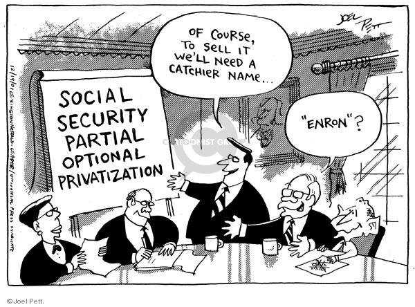 Joel Pett  Joel Pett's Editorial Cartoons 2001-12-19 republican president
