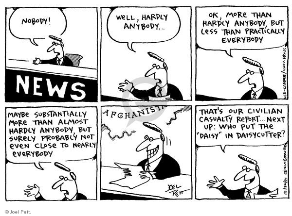 Cartoonist Joel Pett  Joel Pett's Editorial Cartoons 2001-12-20 close