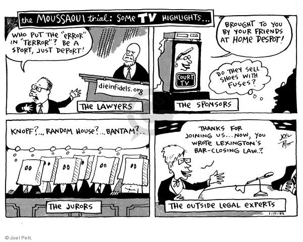 Cartoonist Joel Pett  Joel Pett's Editorial Cartoons 2002-01-11 close