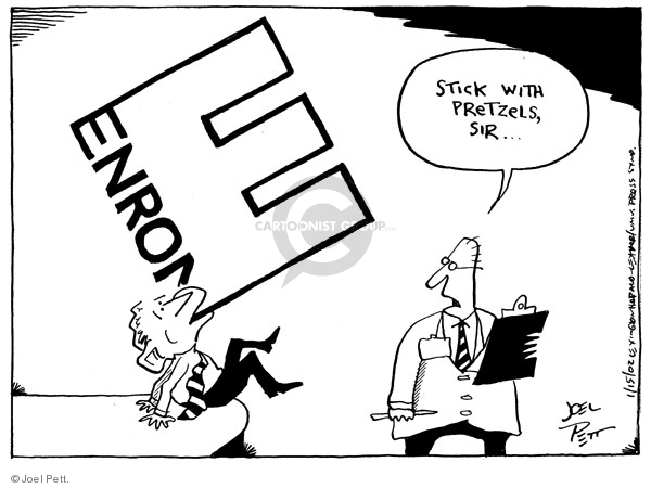 Cartoonist Joel Pett  Joel Pett's Editorial Cartoons 2002-01-15 bankruptcy