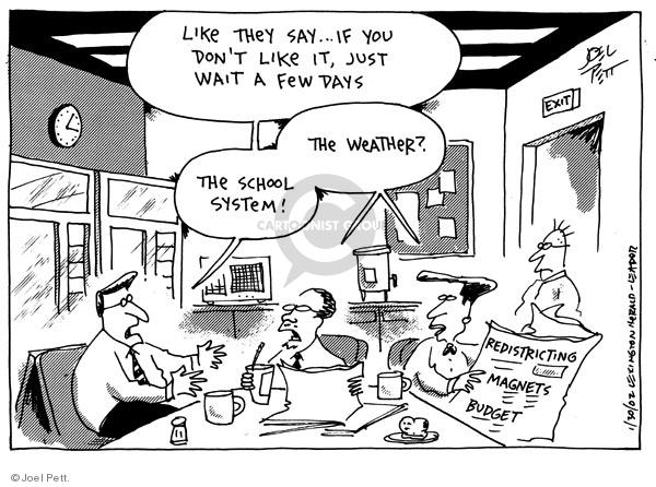 Cartoonist Joel Pett  Joel Pett's Editorial Cartoons 2002-01-30 standard
